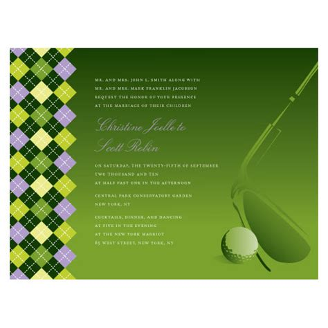 free printable golf stationery golf bridal shower invitation