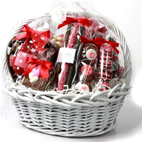 baskets for valentines day classic valentines basket