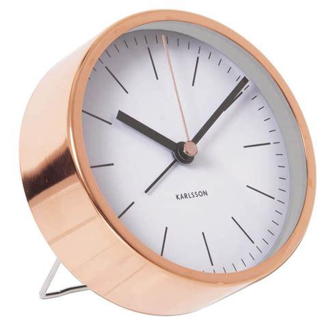 minimalist alarm clock minimal alarm clock copper white