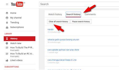 cara menghapus upload video di youtube cara menghapus riwayat youtube penelusuran tontonan di
