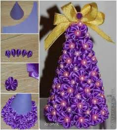 diy satin ribbon christmas tree tutorial usefuldiy com
