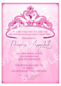 princess birthday invitation diy princess crown birthday
