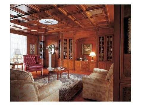 Classic style paneling in wood, for living rooms   IDFdesign