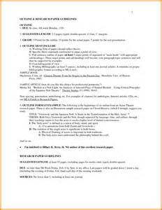 Research Paper Outline Exle Mla by 7 Mla Research Paper Outline Letter Format For