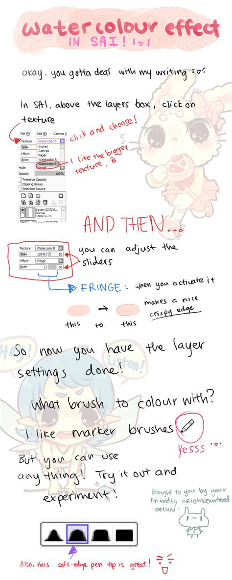 paint tool sai watercolor effect sai how to watercolour effect by onisuu on deviantart