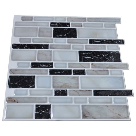 kitchen backsplash stick on tiles peel n stick kitchen backsplash tile stone brick pattern