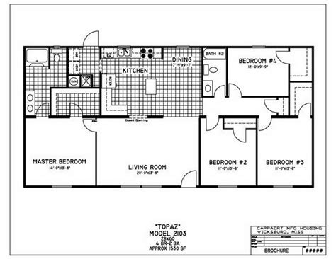 modular home floor plans 4 bedrooms fuller modular homes cappaert double wides mobile homes 488741 171 gallery of homes