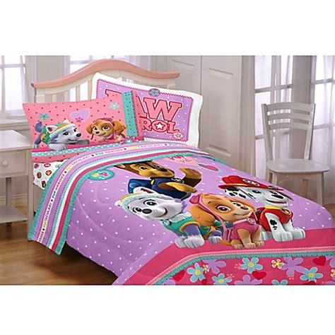paw patrol bed set paw patrol pals comforter set in pink bed bath beyond