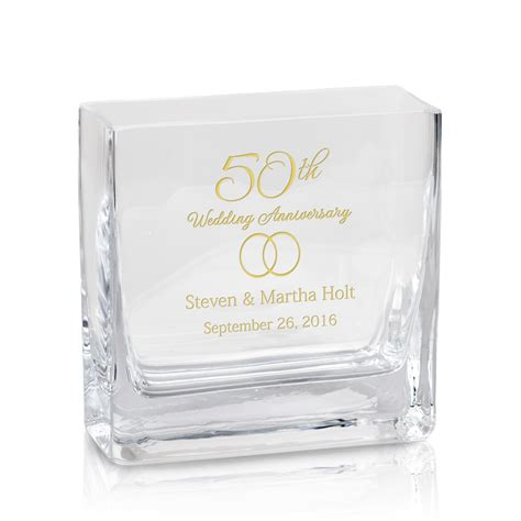 personalized gifts 50th anniversary personalized modern glass vase