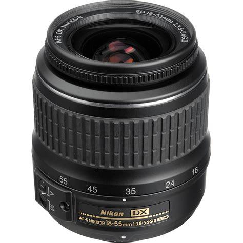 nikon af s dx zoom nikkor 18 55mm f 3 5 5 6g ed ii lens 2170 b h