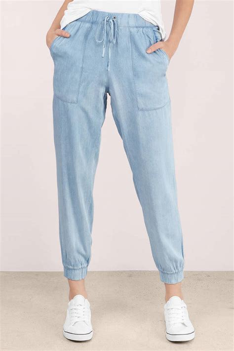 Jogger Cool Denim cool chambray joggers 88 tobi us