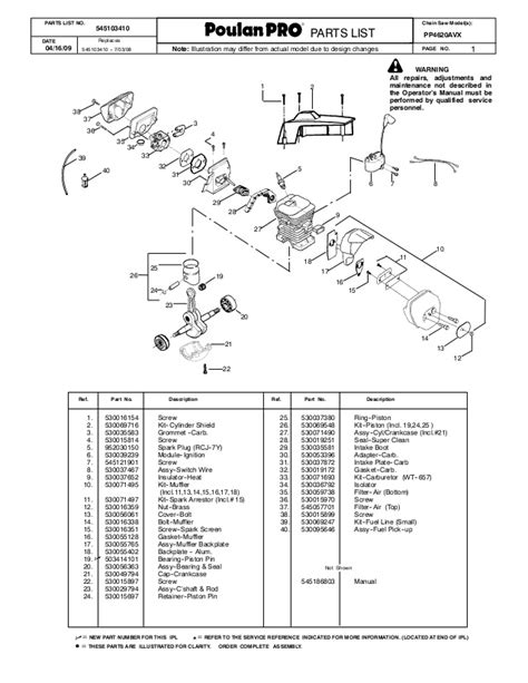 honda small engine illustrated service manual by cycle soft issuu poulan pro illustrated parts list