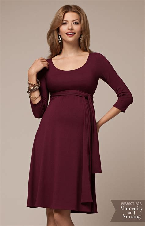 Naomi Maternity Nursing Dress Mulberry   Maternity Wedding Dresses, Evening Wear and Party