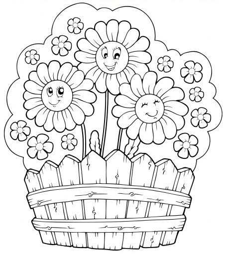 coloring pages of flowers with names coloring page of flower garden search simply
