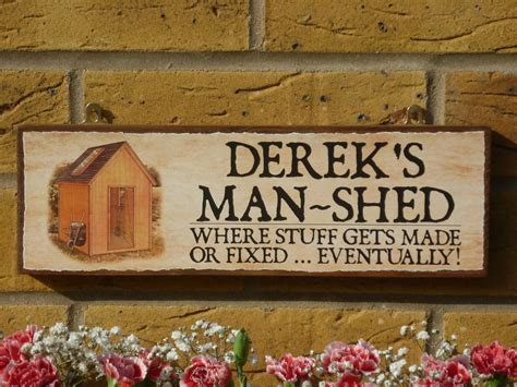 Personalised Signs For Sheds by Personalised Shed Sign Garden Sign Sign Own Name