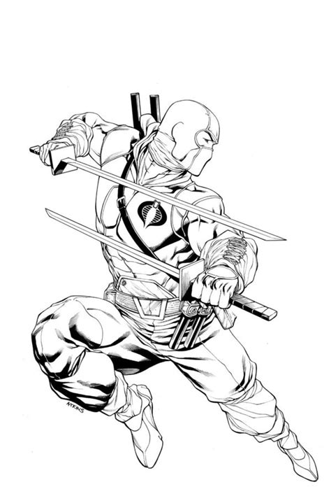snake eyes coloring pages storm shadow snake eyes cover 13 by robertatkins on deviantart