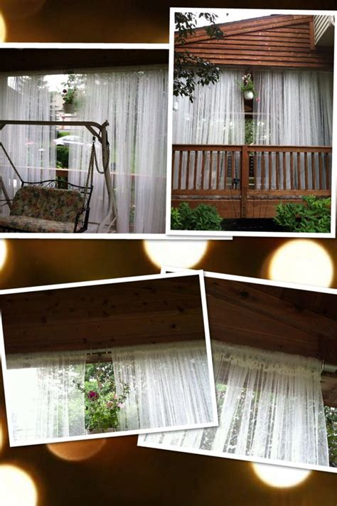 Outdoor Curtains Ikea Outdoor Curtains 5 Pair From Ikea Galvanized Electrical Piping Cut To Size And Hung With