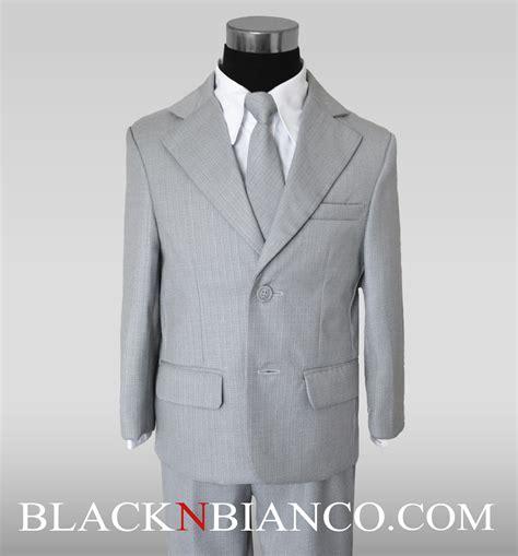 boys light gray suit boys light gray suit 2 buttons black n bianco