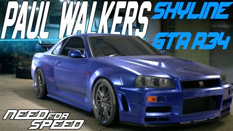 nissan skyline r34 paul walker need for speed 2015 paul walker s nissan skyline gt r