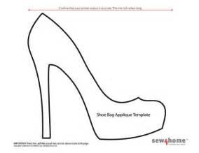 high heel shoe template craft molde sapato revista artesanato