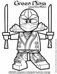 Ninjago Green Ninja Lloyd Garmadon Coloring Pagegif