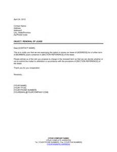 exercising option to renew lease template sle form