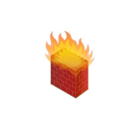 visio firewall icon computers and network isometric vector stencils library