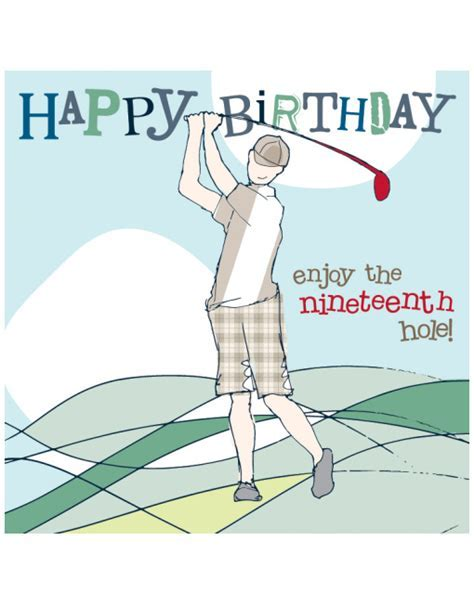 Golf Birthday Cards   Molly Mae Birthday Cards For All Ages