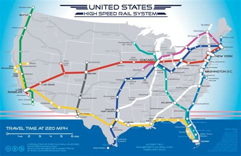 usa rail network map map of american high speed rail network business insider