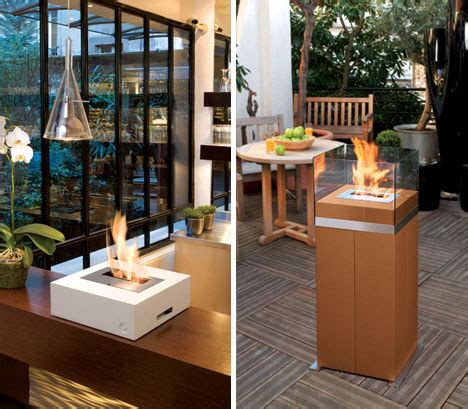 portable chimney fireplace modern design cool contemporary mobile fireplaces