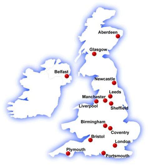 map of major cities in uk uk map practical logic