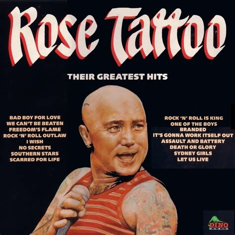 rose tattoo album covers discographie fanpage
