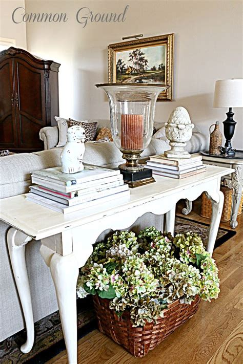 decorate sofa table 27 best images about styling a sofa table on pinterest