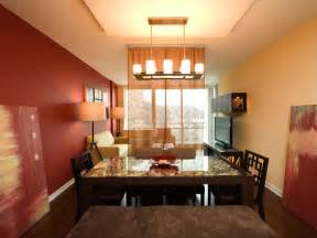 Living Room Dining Room Combo by Red Contemporary Dining Room With Candle Chandelier Hgtv