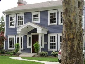 Blue And White House by Exterior Update Blue Siding White Trim Wood Door