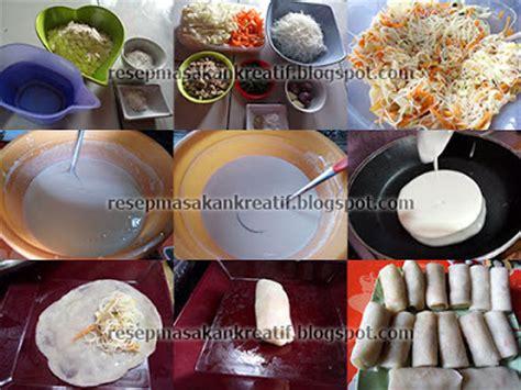 cara membuat kulit lumpia sederhana resep lumpia goreng isi bihun sayur kulit renyah aneka