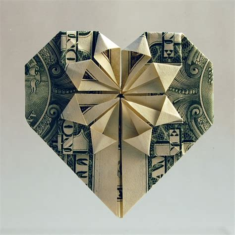 Paper Money Folding - origami dollar bill flower 171 embroidery origami