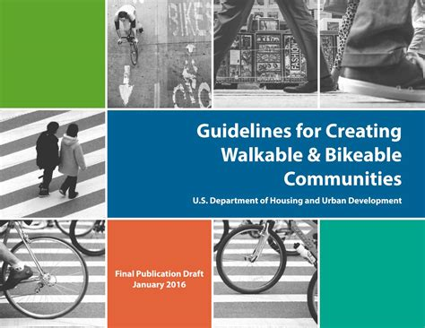 urban planning and design criteria joseph dechiara hud bike pedestrian design guidelines by ktua issuu