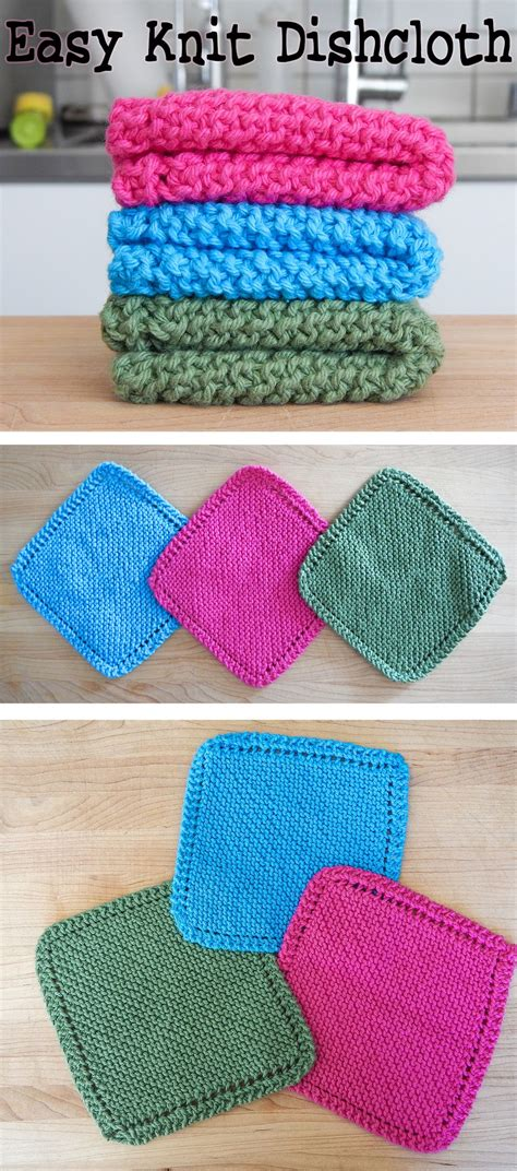knit projects easy knit dishcloth washcloth baby dishcloth