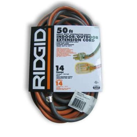 ridgid 50 ft 14 3 heavy duty extension cord aw62623 the