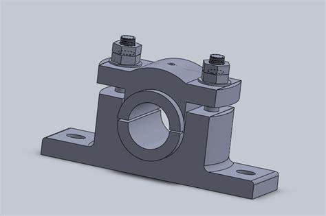 Pedestal Bearing pedestal bearing solidworks 3d cad model grabcad