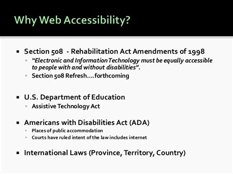 ada section 508 compliance 10 tips for creating accessible web content with wcag 2 0