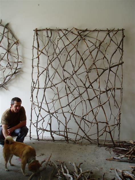 twig woven wall sculpture  paul schick weaving