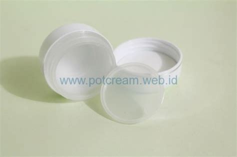 Pot 12 5 Gr Putih Putih jual pot mini jar lokal pot 15 gram