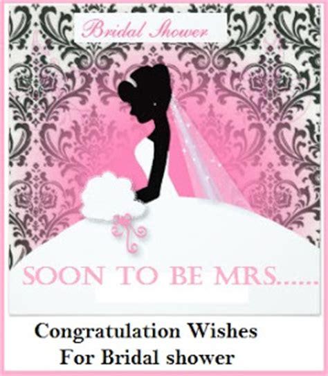 Bridal Shower Card Messages