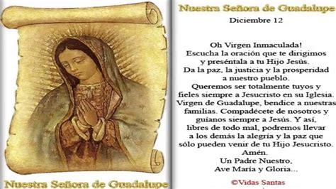 imagenes y oraciones ala virgen de guadalupe oracion virgen de guadalupe youtube