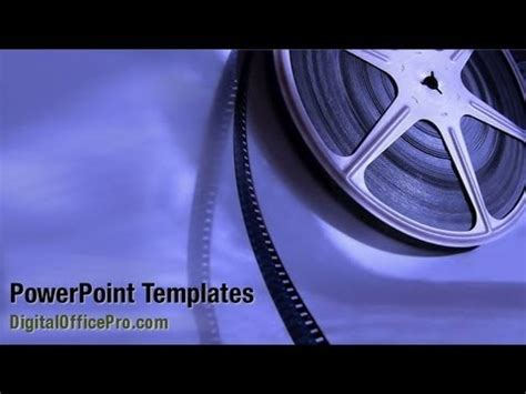 movie film reel powerpoint template backgrounds