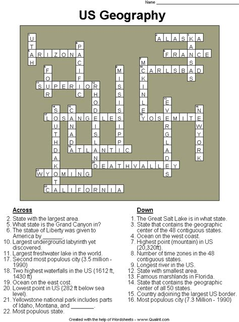 the life of abraham lincoln crossword puzzle answer key qualint sle puzzles worksheets