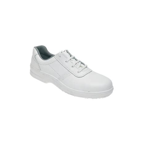 toesavers white leather tie safety shoe code 3452