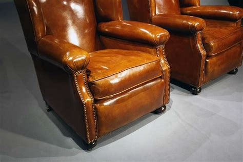 antique leather armchairs antique pair of leather armchairs loveday antiques